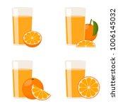 raster copy  orange juice. the...   Shutterstock . vector #1006145032