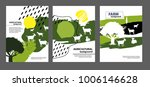 agricultural brochure layout...   Shutterstock .eps vector #1006146628