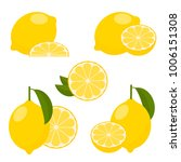 raster copy  icon set lemon on... | Shutterstock . vector #1006151308