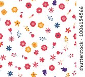 floral seamless pattern... | Shutterstock .eps vector #1006154566