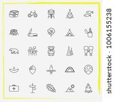camping line icon set sign ... | Shutterstock .eps vector #1006155238