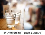 water in a glass  selective... | Shutterstock . vector #1006160806