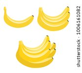 bananas. a set of icons.  flat...   Shutterstock . vector #1006161082