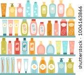 raster copy  shelf with... | Shutterstock . vector #1006163866