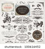 set of calligraphic design... | Shutterstock .eps vector #100616452