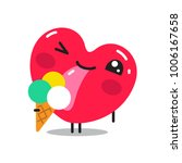 heart sticker character. vector ...