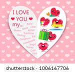 happy valentines day. greeting... | Shutterstock .eps vector #1006167706