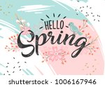 hello spring hand sketched... | Shutterstock .eps vector #1006167946