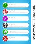 Informative vector stickers - stock vector