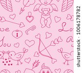 seamless pattern of cupid day... | Shutterstock .eps vector #1006178782