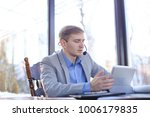 businessman making video call... | Shutterstock . vector #1006179835