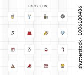 party colored icons   02 | Shutterstock .eps vector #1006180486