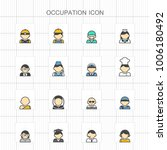 occupation colored icons   01 | Shutterstock .eps vector #1006180492