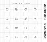 web and online icons   08 | Shutterstock .eps vector #1006180705