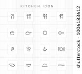 kitchen icons   01 | Shutterstock .eps vector #1006183612