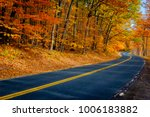 New York Back Road In Autumn