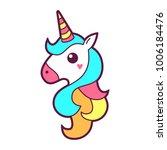 unicorn icon or logo design.... | Shutterstock .eps vector #1006184476