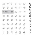 modern weather forecast icons... | Shutterstock .eps vector #1006185046