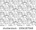 faces of people  seamless... | Shutterstock .eps vector #1006187068
