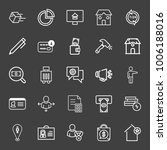 business icon set with shopping