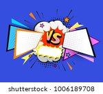 versus letters fight... | Shutterstock .eps vector #1006189708