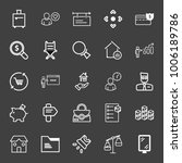 business icon set with house