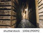 Narrow Alleyway In Rome At...