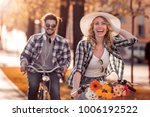 young man and woman having a... | Shutterstock . vector #1006192522