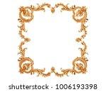 gold ornament on a white... | Shutterstock . vector #1006193398