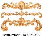 gold ornament on a white... | Shutterstock . vector #1006193518