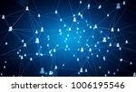 concept of social network ...   Shutterstock . vector #1006195546
