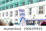 black lives matter picket sign... | Shutterstock . vector #1006195915