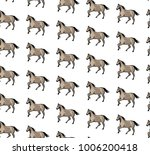 seamless pattern with horses.... | Shutterstock .eps vector #1006200418