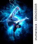 young man break dancing on... | Shutterstock . vector #1006202035