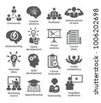 business management icons. pack ... | Shutterstock .eps vector #1006202698