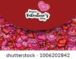happy valentines day greeting... | Shutterstock .eps vector #1006202842