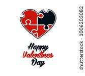 happy valentines day .... | Shutterstock .eps vector #1006203082