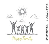 happy family. mother  father ... | Shutterstock .eps vector #1006205446