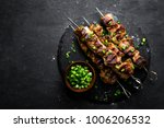 grilled meat skewers  shish... | Shutterstock . vector #1006206532