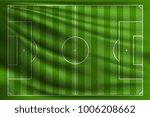 soccer field on the green flag. ...   Shutterstock .eps vector #1006208662
