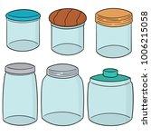 vector set of jars | Shutterstock .eps vector #1006215058