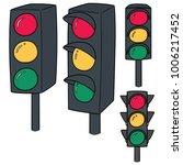 vector set of traffic light | Shutterstock .eps vector #1006217452