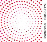 heart halftone color background.... | Shutterstock .eps vector #1006219192