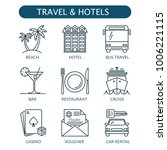 travel and hotel icons set.... | Shutterstock .eps vector #1006221115