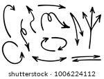 hand drawn arrow icons vector... | Shutterstock .eps vector #1006224112