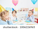 cute little friends in birthday ... | Shutterstock . vector #1006226965