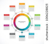 infographic cycle diagram.... | Shutterstock .eps vector #1006228825
