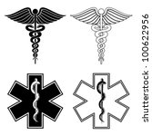 caduceus and star of life... | Shutterstock .eps vector #100622956