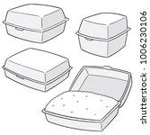 vector set of foam box | Shutterstock .eps vector #1006230106