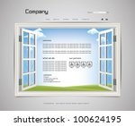 website page design 2 | Shutterstock .eps vector #100624195